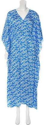 Natori Floral Print Maxi Dress