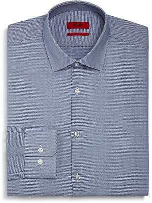 HUGO Textured Dot Regular Fit Dress Shirt