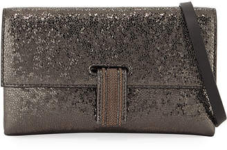 Brunello Cucinelli Broken Glass-Effect Wallet On A Chain