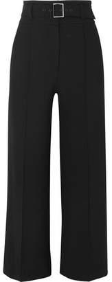 Veronica Beard Lyla Cropped Crepe Wide-leg Pants - Black
