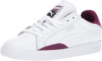 Puma Women's Match Lo Classic Wn, White-Dark Purple