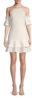 Endless Rose Haltered Cold-Shoulder Dress