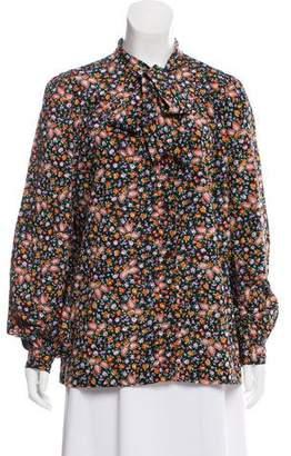 Oscar de la Renta Printed Button-Up Top
