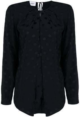 Dondup polka-dot jacquard blouse