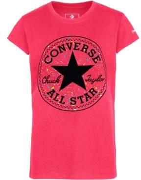 Converse Big Girls Splatter-Print Chuck Taylor Logo T-Shirt