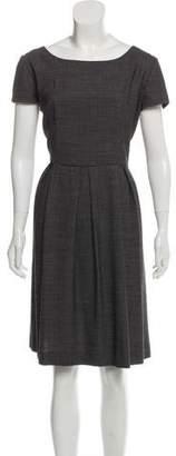 Armani Collezioni A-Line Polka-Dot Dress