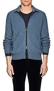 Fioroni Men's Mélange Cashmere Zip-Front Sweater - Md. Blue
