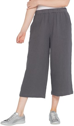 Lisa Rinna Collection Cropped Gauze Pant