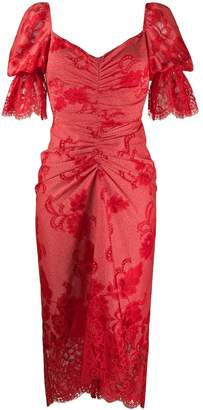 Three floor Clementina lace draped dress