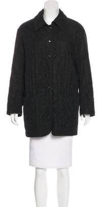Hermes Collared Button-Up Coat