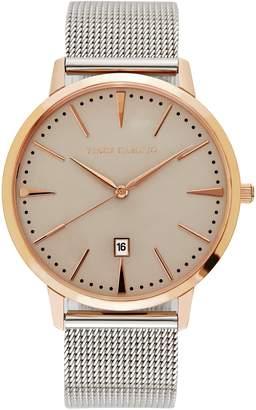 Vince Camuto Silvertone Mesh-bracelet Watch