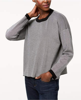 Eileen Fisher Tencel Colorblocked Crew-Neck Sweater