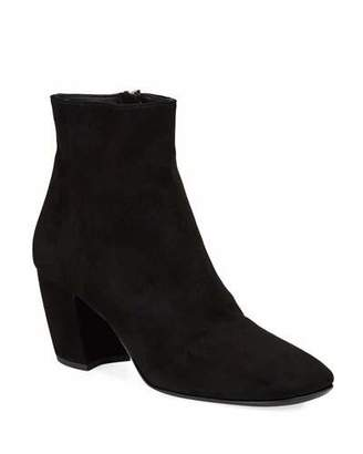 Prada Suede Zip Ankle Booties