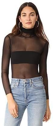 Only Hearts Women's Tulle Long Sleeve Turtleneck Bodysuit