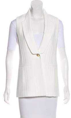 Veronica Beard Structured Button-Up Vest