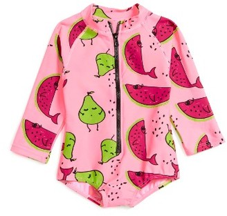 Toddler Girl's Sookibaby Confetti One-Piece Rashguard Swimsuit $28 thestylecure.com