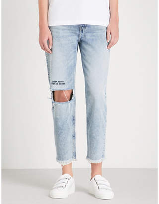 Cheap Monday Donna stonewashed slim-fit high-rise jeans