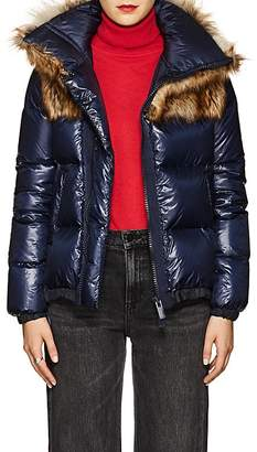 Sacai Women's Faux-Fur-Collar Down Tech-Puffer Coat