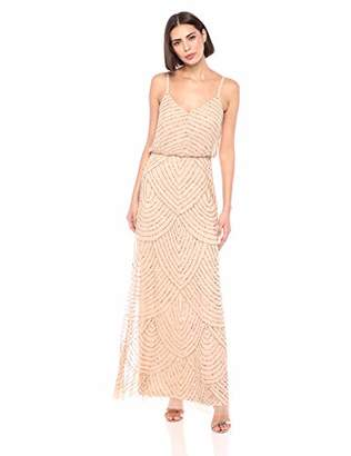 fb751f1c343f Adrianna Papell Women's Long Beaded Blouson Gown