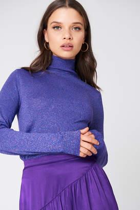 NA-KD Na Kd Polo Neck Glittery Sweater