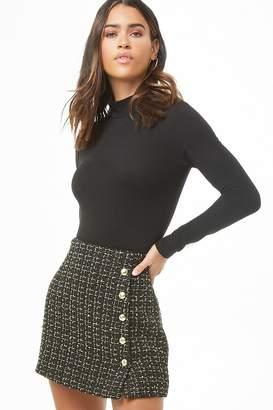 Forever 21 Metallic Tweed Mini Skirt