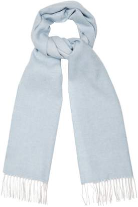 349e696357076 Reiss FINLEY LAMBSWOOL CASHMERE BLEND SCARF Blue