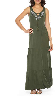 ST. JOHN'S BAY Embriodered Tiered Maxi Dress - Tall 56
