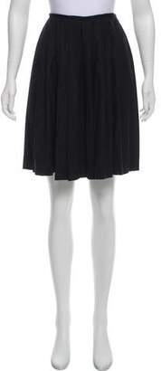 Jean Paul Gaultier Pleated Wool Skirt