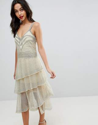 Asos Edition All Over Beaded Flapper Midi Dress
