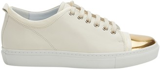 Lanvin Beige Leather Trainers