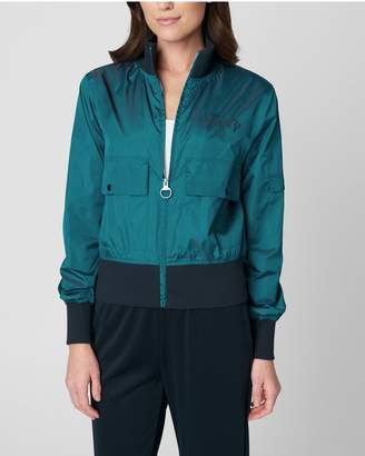 Juicy Couture IRIDESCENT BOMBER JACKET WITH EMBROIDERY