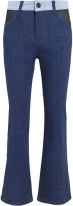 Victoria Beckham Victoria, Cali Contrast Jeans