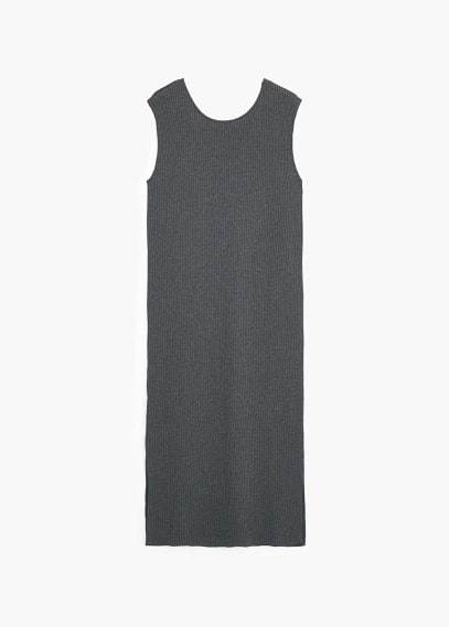 Mango Outlet MANGO OUTLET Ribbed Long Dress