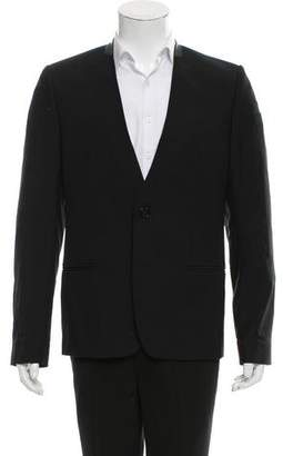 Jean Paul Gaultier Vintage Leather-Trimmed Wool Blazer
