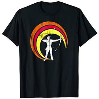 Bow & Arrow Retro Archery T Shirt Bow Arrow bullseye