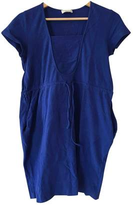 Rodier Blue Cotton Dress for Women