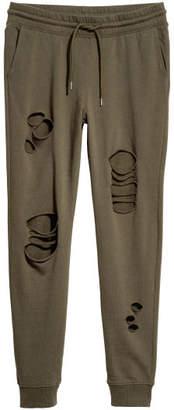 H&M Sweatpants Trashed - Green