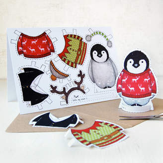 Original Penguin Clara and Macy Dress Up A Christmas Card