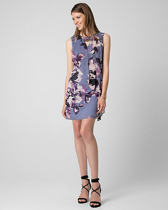 Le Château Floral Print Knit Scoop Neck Trapeze Dress