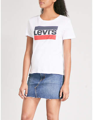 4eaff2df Levi's The Perfect Graphic cotton-jersey T-shirt