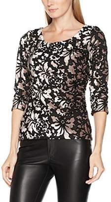 Gina Bacconi Women's Stretch Velvet Metallic Long Sleeve Top