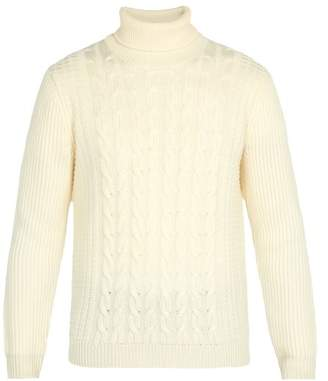 Altea Wool Roll Neck Sweater - Mens - Cream