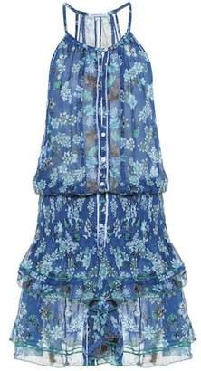 Poupette St Barth Honey floral cotton minidress