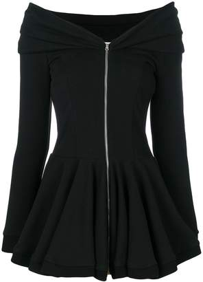 Moschino fitted zipped top