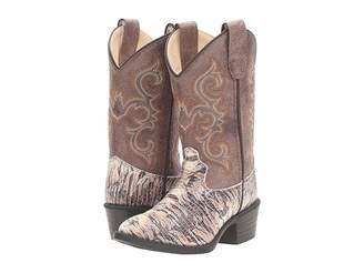 Old West Kids Boots J Toe Lizard Print (Toddler/Little Kid)