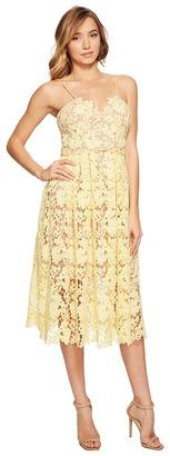 Donna Morgan - Chemical Lace Spaghetti Strap Midi Women's Dress $148 thestylecure.com