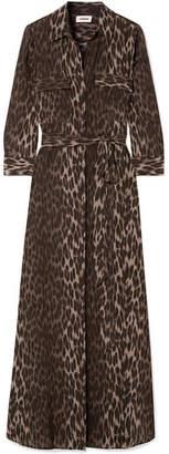 L'Agence Cameron Leopard-print Silk Crepe De Chine Maxi Dress - Leopard print