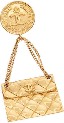 Chanel Gold-Tone Flap Bag Pin