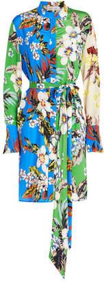Diane von Furstenberg Printed Silk Shirt Dress
