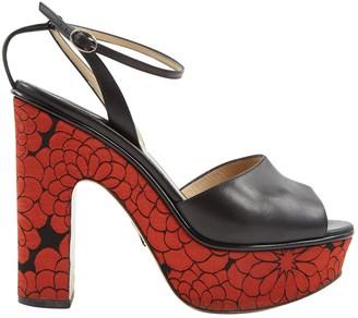 Paul Andrew Black Leather Heels
